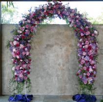 Pink & Purple Archway Wedding