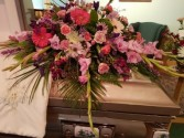 Pink & Purple Medley Casket Spray
