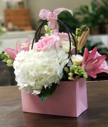 Pink Purse Hydrangea Mix Paper purse