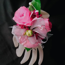 Pink Ranunculus Corage Corsage