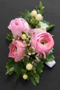 Pink Ranunculus Corsage