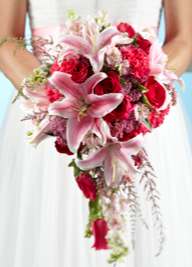 THE FTD® LILY & ROSE BOUQUET W31-5078 Bridal Bouquet-Semi Cascading