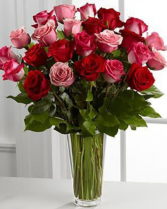 Pink & Red Rose Arrangment