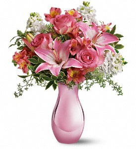 Pink Reflections Bouquet with Roses T52-1