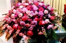 Pink Relaxed Bouquet  Casket Spray