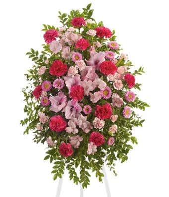 Pink Remembrance Standing Spray