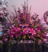 Pink Remembrance  Creamation flowers