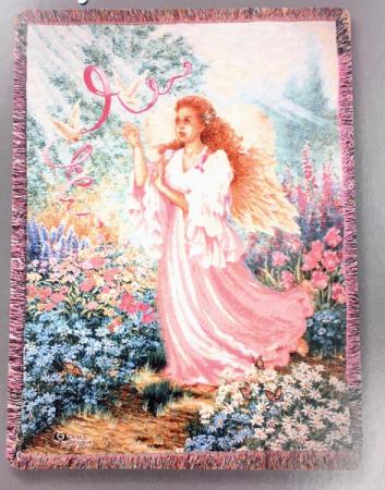 Pink Ribbon Angel afghan