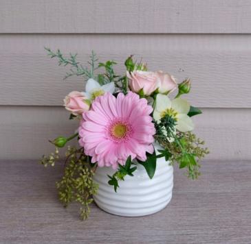 Pink Ripple Bud Vase