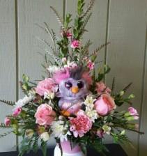 Pink Rock Hopper Penquin Valentine's Day