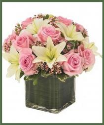 Pink Rose and Lily Bouquet Item #130-11KL