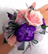 Pink Rose and mixed flower Corsage Wrist Corsage