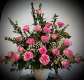 Pink Rose Basket