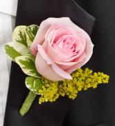 Pink Rose Boutonniere Pink Rose Boutonniere