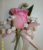 Burst of Pink Prom Boutonniere