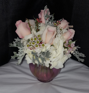 Pink Rose Bowl  in Westfield, IN | Union Street Flowers & Gifts