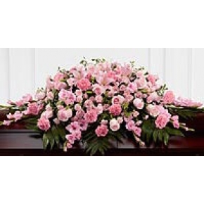 PINK ROSE CASKET SPRAY Casket Spray