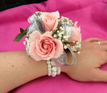 Pink Rose Corsage In Cape Coral Fl Enchanted Florist Of Cape Coral