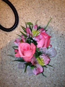 Pink Rose Corsage 2  Enchanted Florist