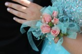 Pink Rose Corsage School Dance