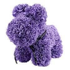 Foam Purple Rose Dog