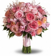 Pink Rose Garden Bouquet Hand Tied Bouquet