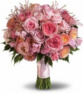 Pink Rose Garden Bouquet Bridal Bouquet