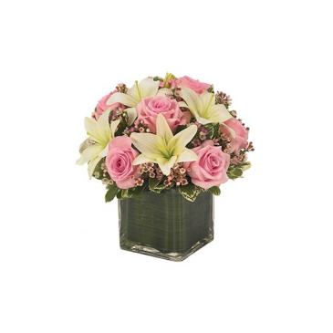 Pink Rose & Lily Cube