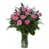 Pink Rose Perfection Fresh Flower Arrangement