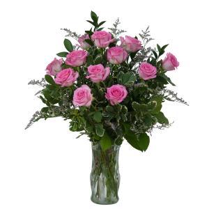 Pink Rose Perfection Arrangement in Kannapolis, NC | MIDWAY FLORIST OF KANNAPOLIS