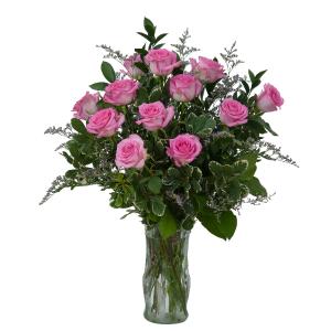 Pink Rose Perfection Arrangement in Saugerties, NY | THE FLOWER GARDEN