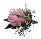 Pink Rose Prom Boutonniere