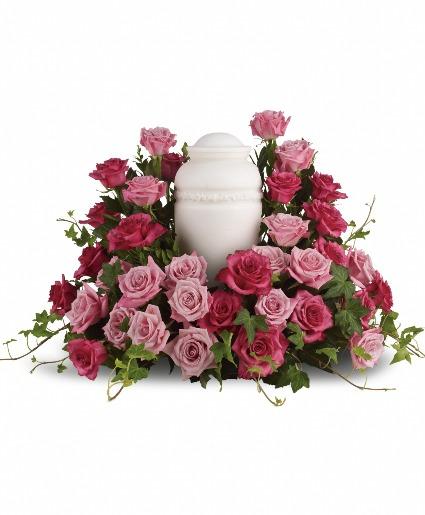 Pink Rose Urn Wrap