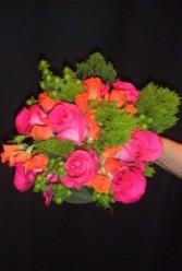 Pink Rose with Trillium Accent