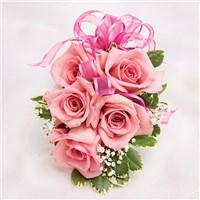 Pink rose wristlet Pink rose wristlet