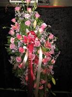Pink Rose/Lily Sympathy Spray