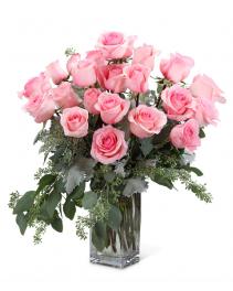 Pink Roses (24) Flower Arrangement