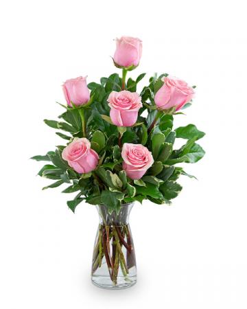 Pink Roses (6) Flower Arrangement