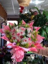 pink roses bouquet Hong Kong Bouquet