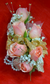 Pink Roses Corsage-5D