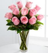Pink Roses Vased