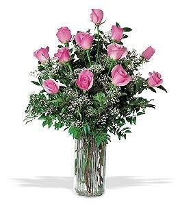 PINK ROSES Vased Roses