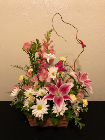 Cottage Blooms Basket Arrangement
