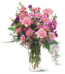 Pink Sentiment Vase Arrangement