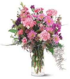 Pink Sentiment Vase Arrangement