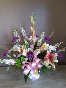 Pink simplicity  Funeral flowers