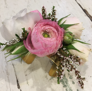 Pink Sizzle  Brass Cuff Corsage in Astoria, OR | BLOOMIN CRAZY FLORAL