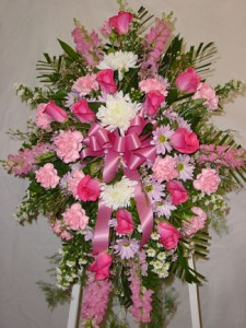Pink Spray Funeral in Ware, MA | OTTO FLORIST & GIFTS