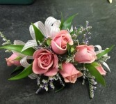 Pink Spray Roses Wristlet Corsage in Winnipeg, MB | CHARLESWOOD FLORISTS