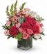 Pink Squared fresh floral arrangement